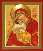 Virgin of the Sweet Kiss (Glykophilousa) (Also called Our Lady of Tenderness)