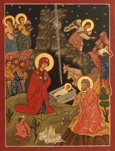 Byzantine/Romanian Icon of the Nativity